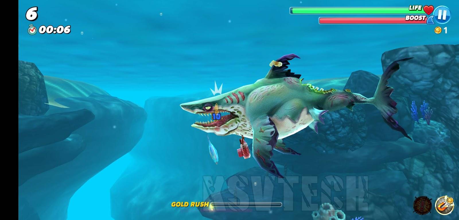 hungry shark mod apk ios download
