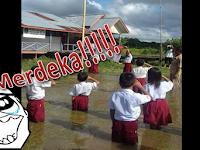 Lebih Nasionalis!! Apakah Sekolah Perkotaan Akan Melaksanakan Juga Walaupun Banjir Se'dada??