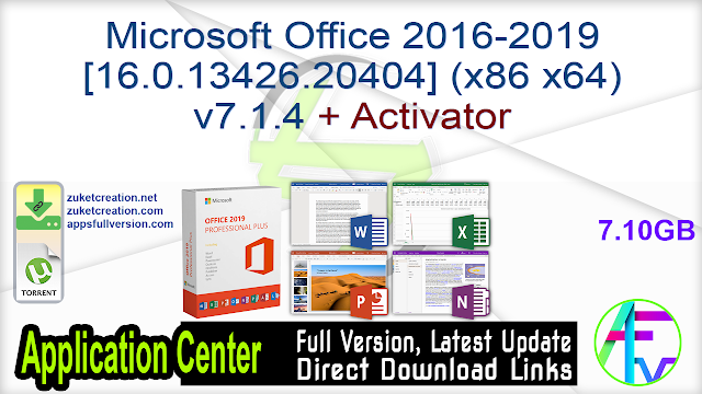 Microsoft Office 2016-2019 [16.0.13426.20404] (x86  x64) v7.1.4 + Activator
