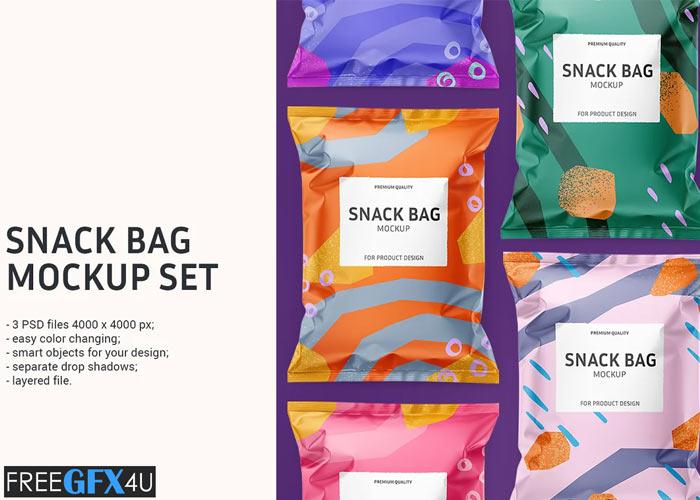Snack Bag Mockup Set