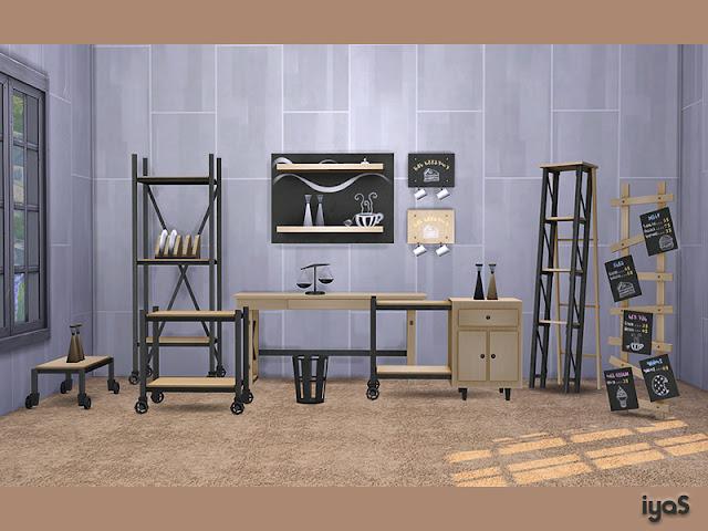 Business Essentials Основы бизнеса для The Sims 4 11 объектов для вашего бизнес кафе, ресторана или офиса. Каждый объект имеет 4 цветовых вариации. Все стойки и двойная полка имеют много слотов для вашего любимого декора. Автор: soloriya