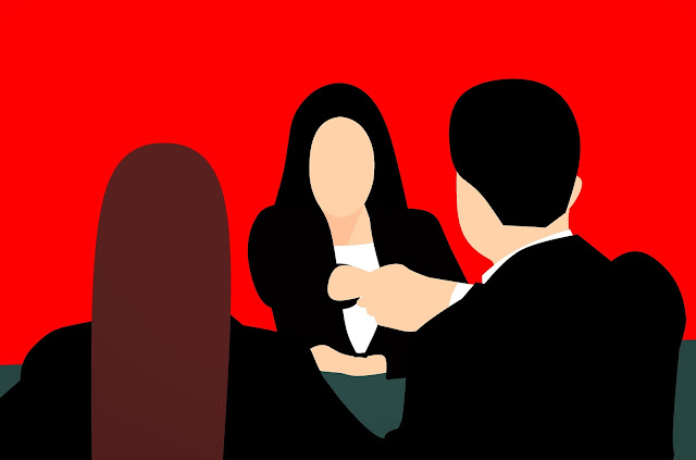 job interview icon painting effect