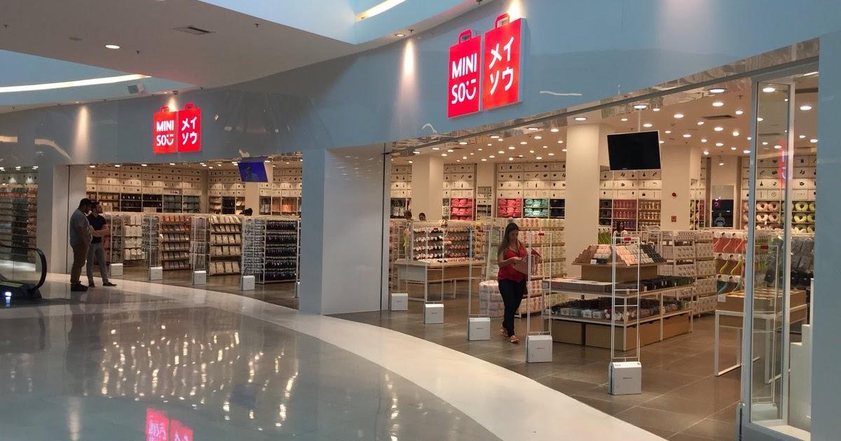 Aparador Na Sala De Estar ~ ARTE COM QUIANE Paps e Moldes de Artesanato Passeio na Loja Miniso Shopping Parque das