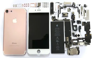 parts of a iphone circuit board components