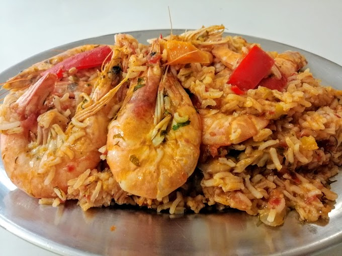 Πεντανόστιμο ριζότο με λαχανικά και φρέσκες γαρίδες