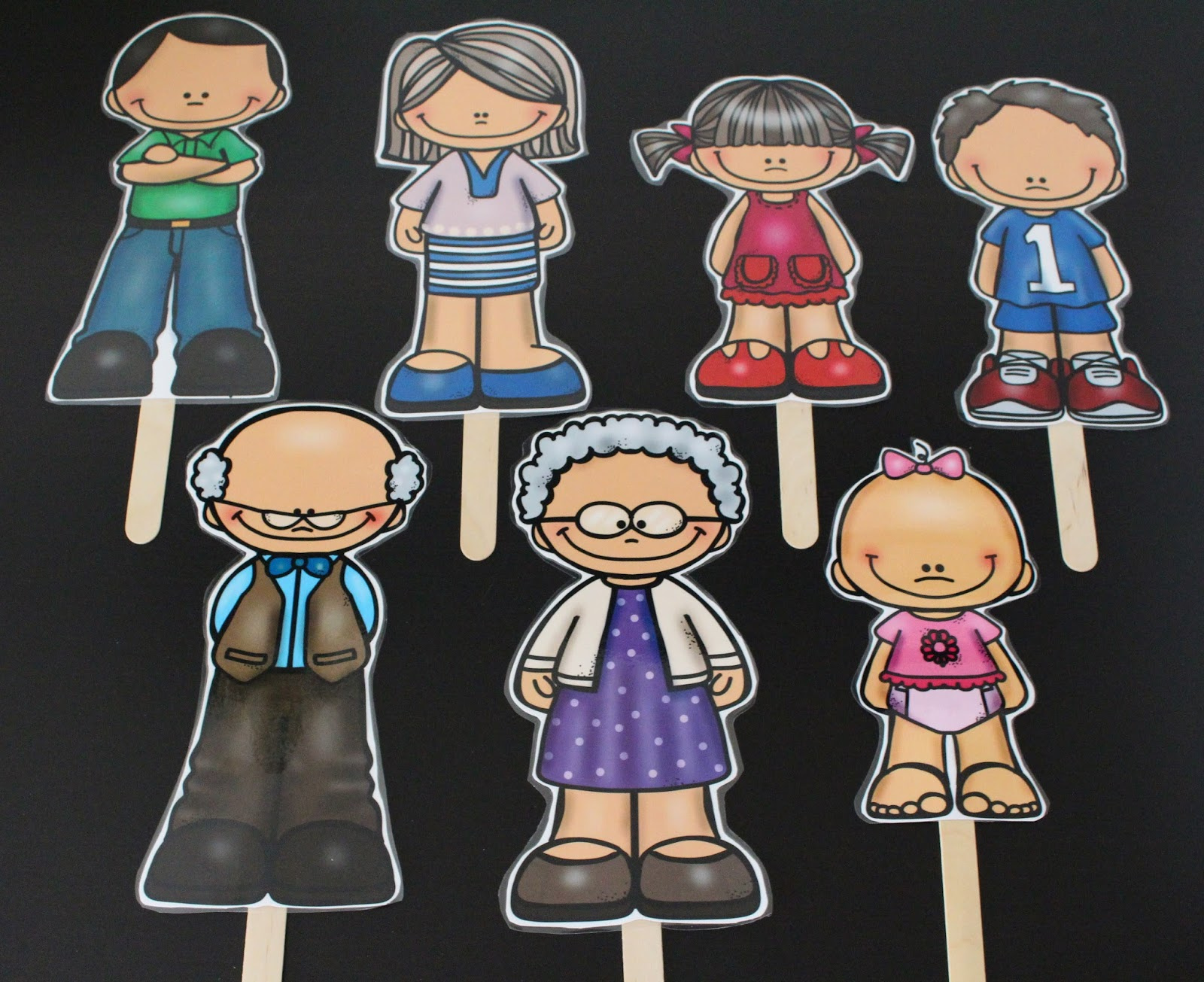 The Primary Pad Family Stick Puppets
