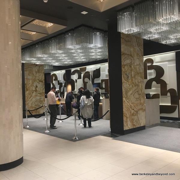 lobby of Fairmont Queen Elizabeth Hotel in Montreal, Canada
