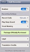 Record iPhone Calls with CallRecorder Cydia Tweak