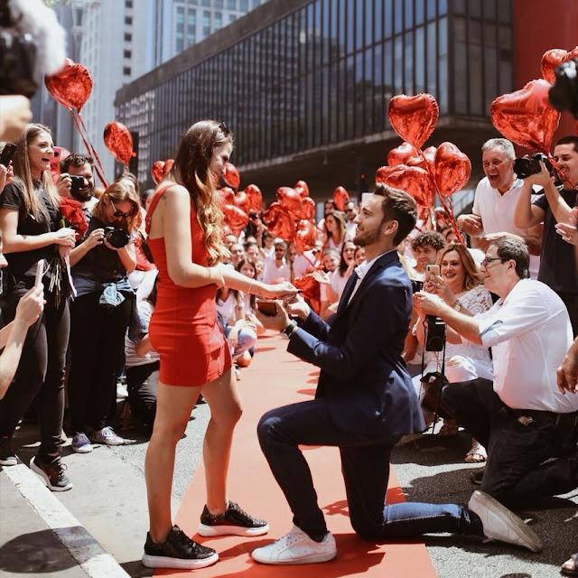pedido de casamento avenida paulista
