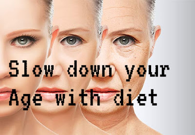 Anti-aging,  antiageing, slow down your age, look young with these foods