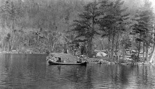 Photo of West Dollar Island, Lake George, circa 1910