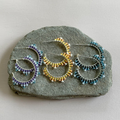 free beaded hoop earring tutorial
