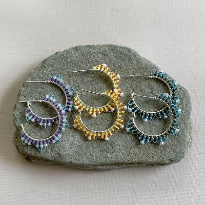 free beaded hoop earring tutorial