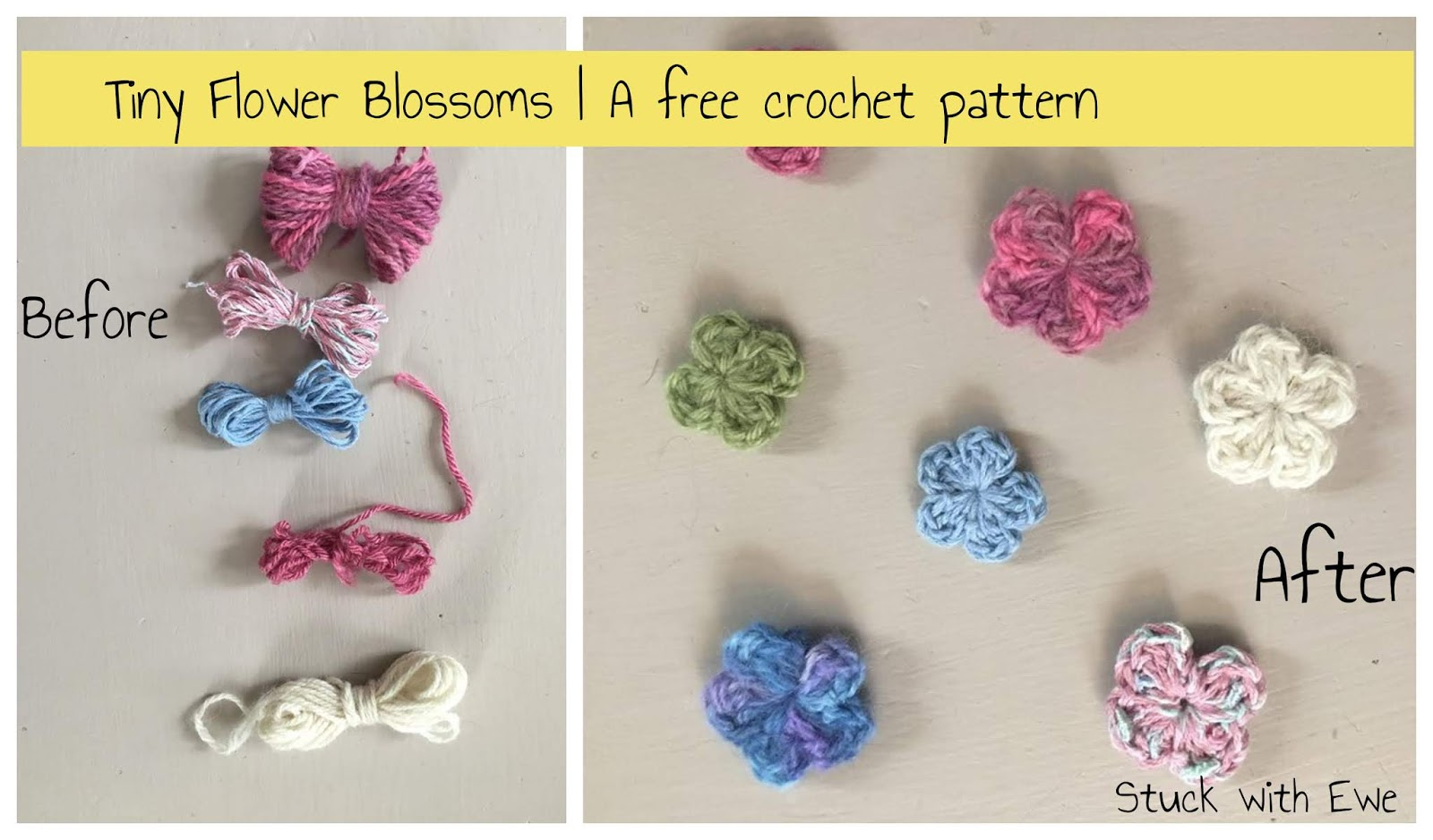 Tiny Flower Blossoms A Free Quick Crochet Pattern