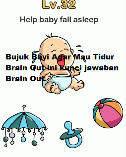 Brain out level 32 - bujuk bayinya agar mau tidur - YouTube