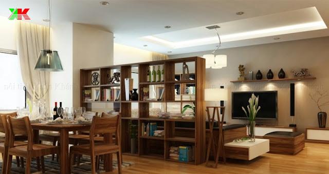 Thiết kế phòng ăn chung cư Samsora Hà Đông