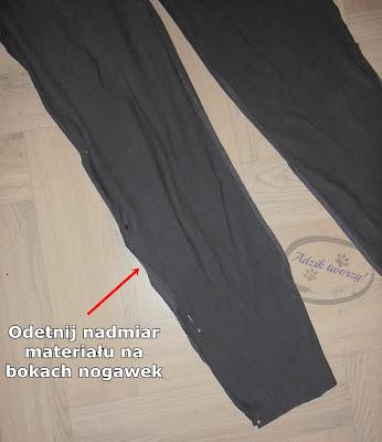jak zwęzić nogawki w spodniach instrukcje