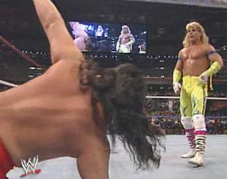 WWF / WWE - Wrestlemania 6: Shawn Michaels watches over Pat Tanaka in the Rockers/Orient Express match