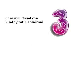 Trik Kuota Gratis Tri 2020 Unlimited Tanpa Aplikasi