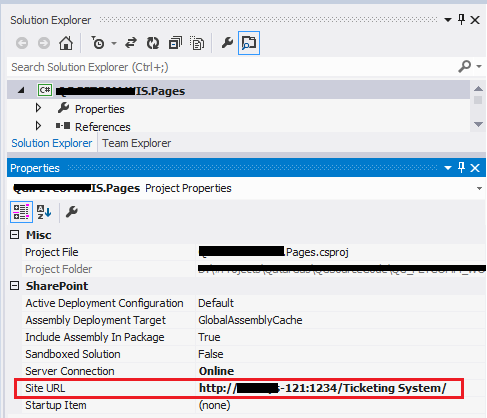 SharePoint Served: Error occurred in deployment step