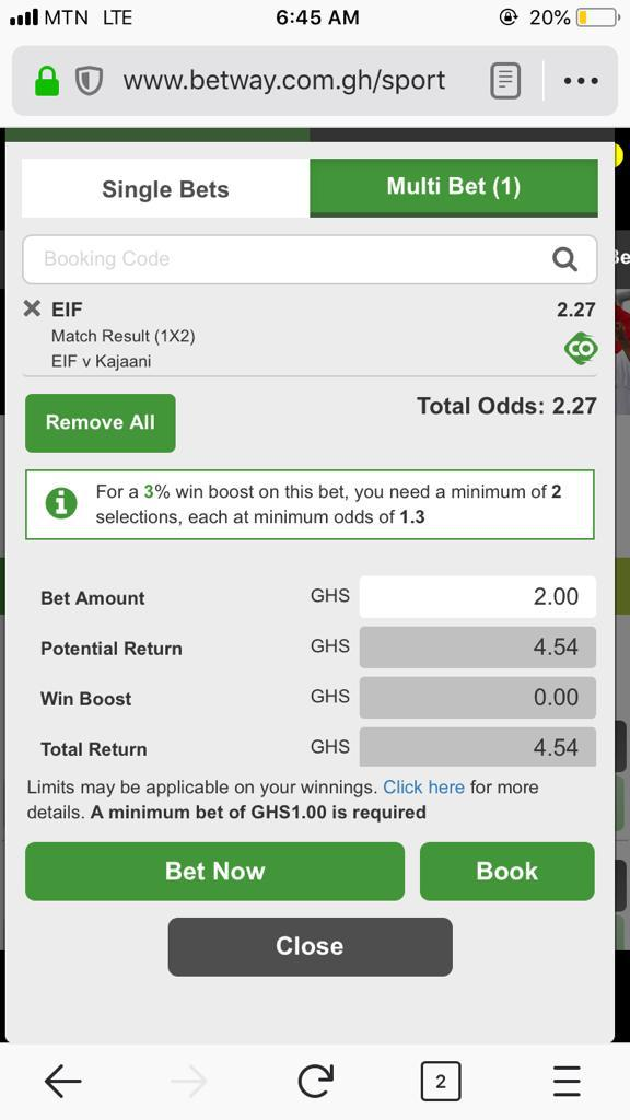 Earn money every day with 2 sure odds plus, in BETWAY