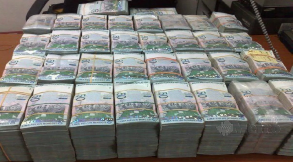 Wang tunai RM1.6 juta