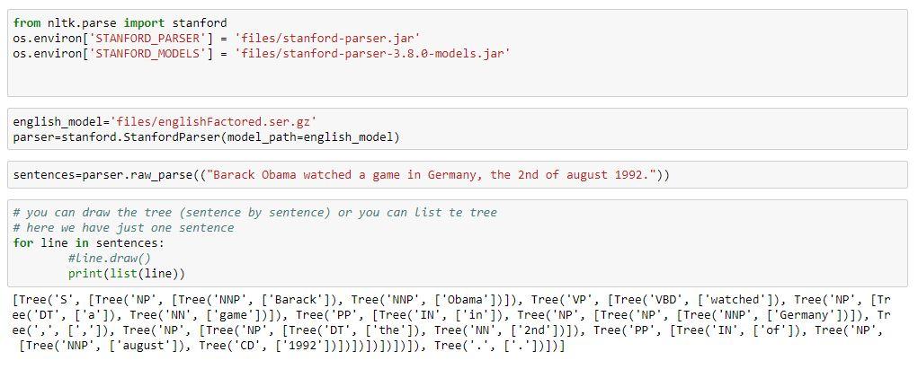NLP Processing using NLTK Stanford core nlp