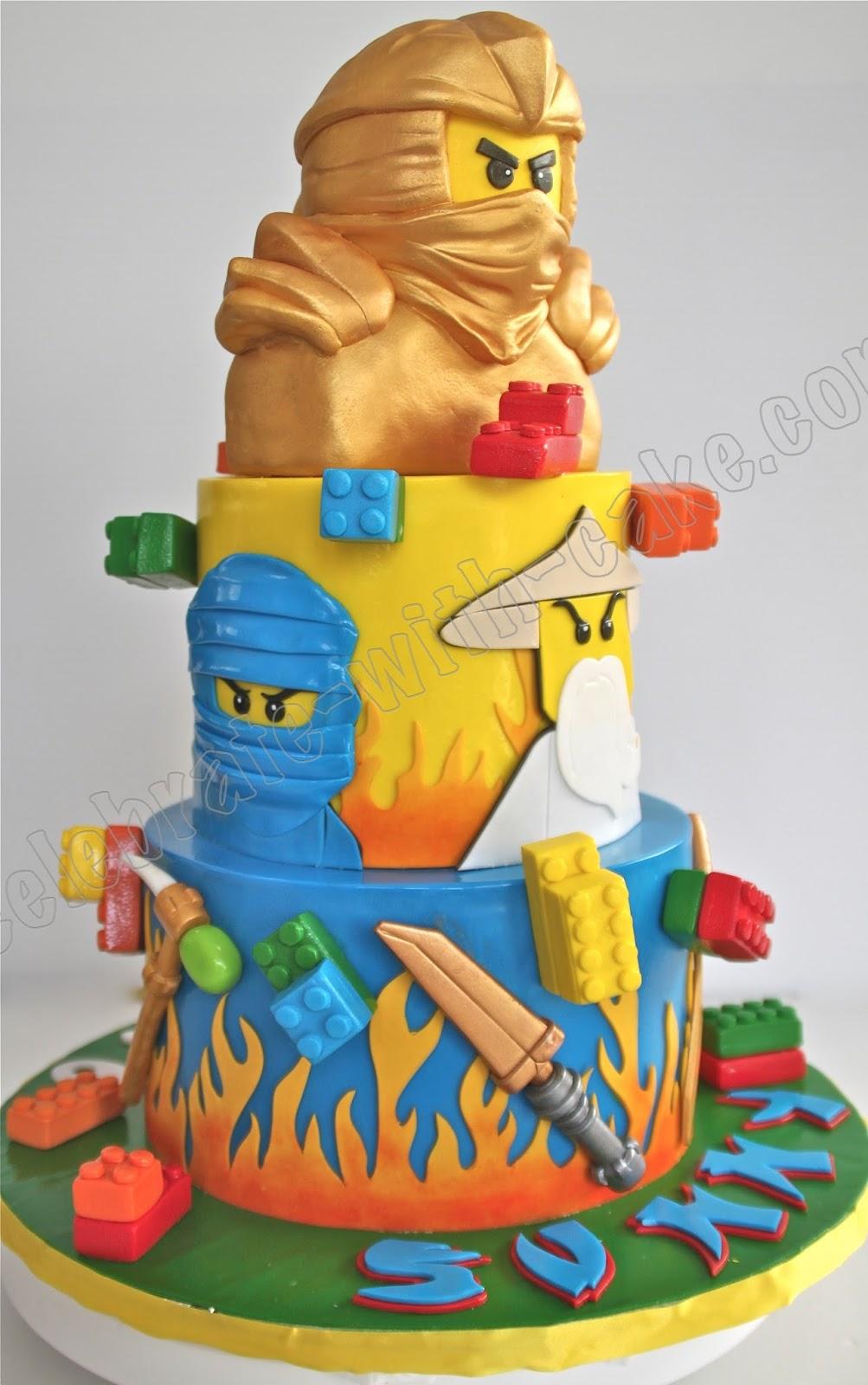 Lego Ninjago 2 Tier Cake