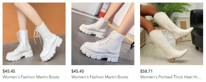 Tendência: bota branca