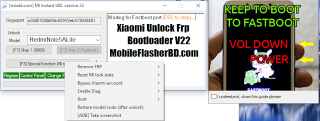 Xiaomi Unlock Frp Bootloader V22 Tool Free For All Without Password 2020 Tools