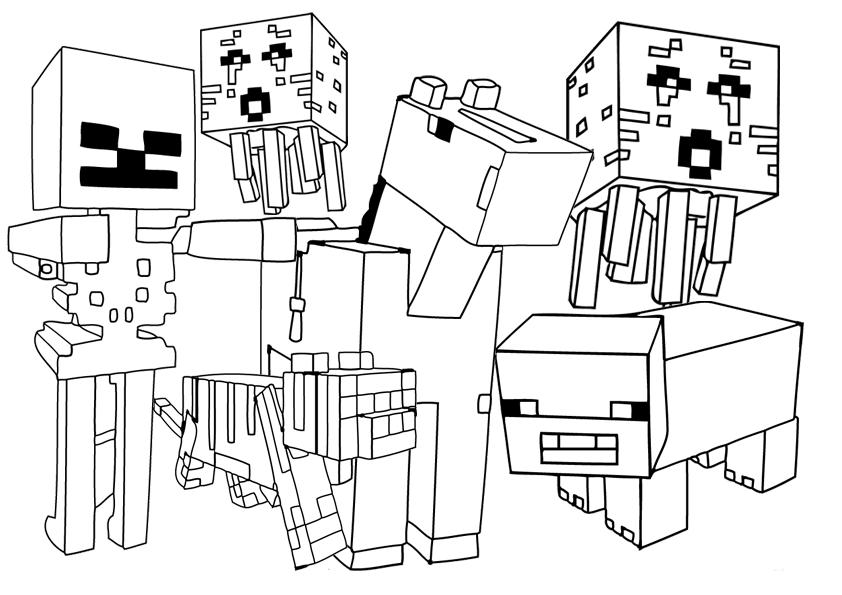 Baú Da Web: Minecraft Desenhos Para Colorir
