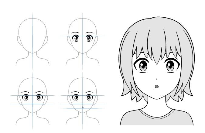 Contoh gambar gadis anime terkejut