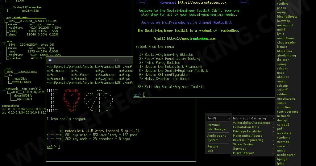 PwnPi - A Pen-testing Drop Box Distribution For Raspberry Pi