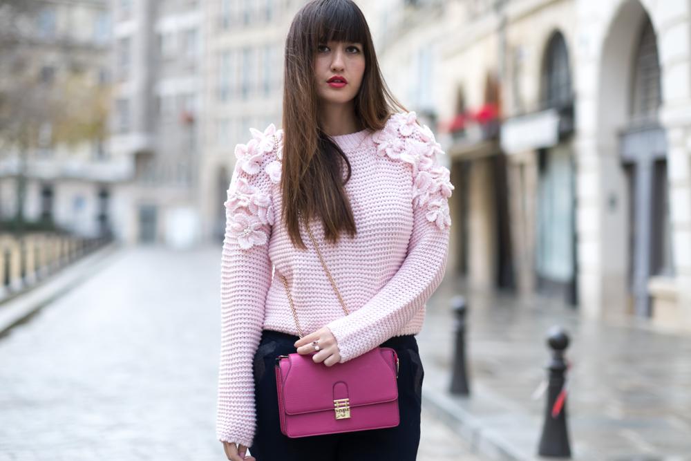 街头风,Blogger,外观,时尚,别致的风格,粉红色,结识我,巴黎博客