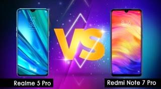 Realme 5 Pro vs Redmi Note 7 Pro