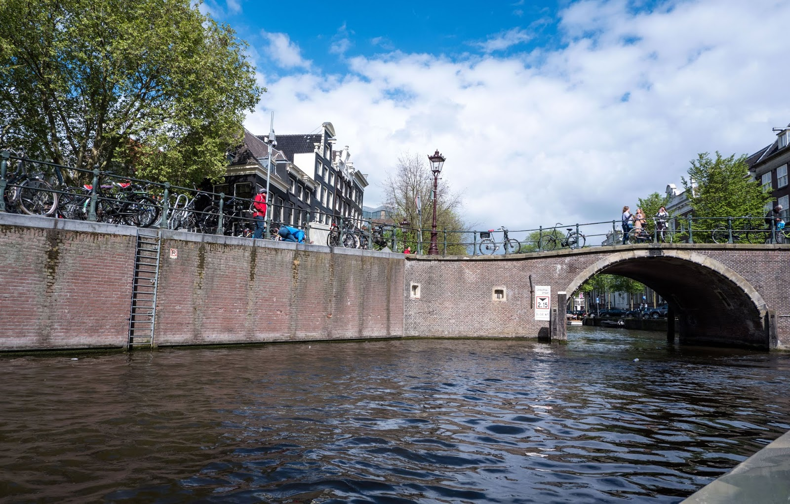 Canal boat tour in Amsterdam, The Netherlands