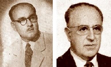 Los presidentes de la Federación Catalana de Ajedrez Ricardo A. Oller y Joaquim Muntaner