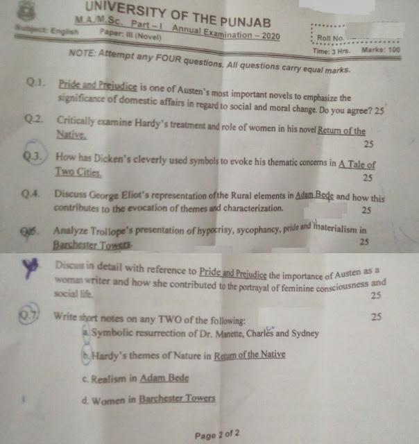 MA English Paper