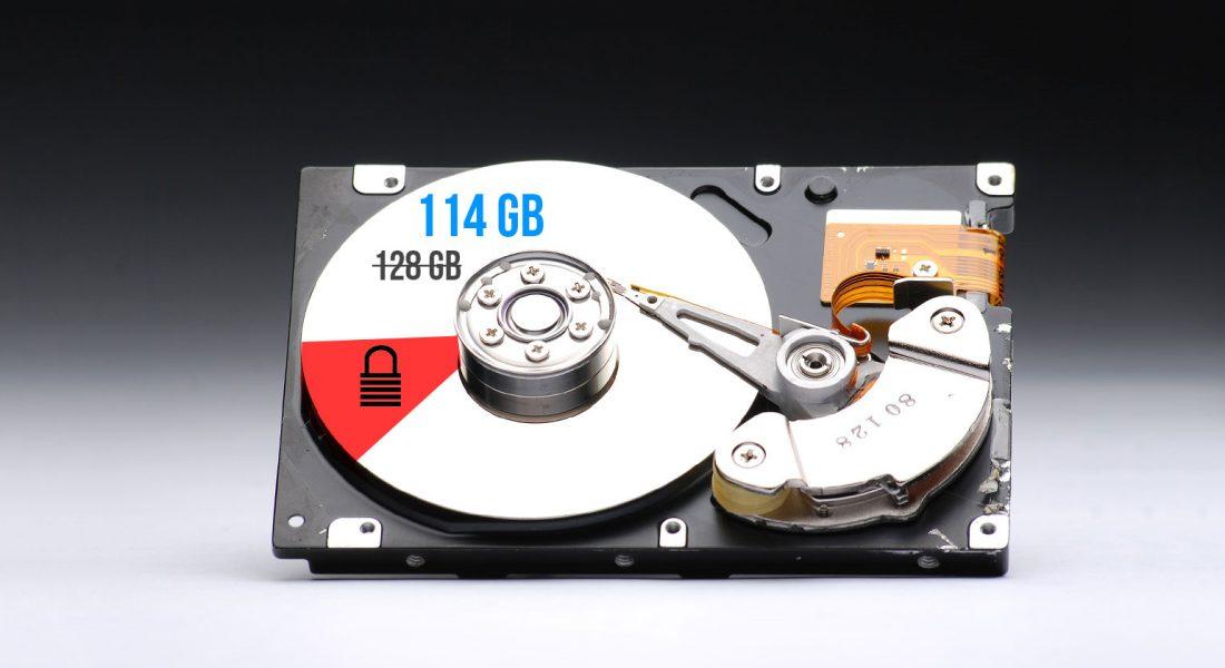 calcular espacio real disco duro