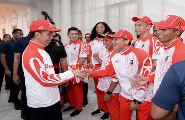 Presiden Jokowi Lepas Kontingen Indonesia ke SEA Games XXX Filipina