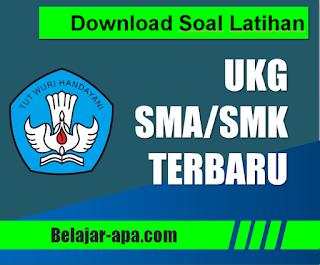 Download Soal Latihan UKG SMA SMK Terbaru