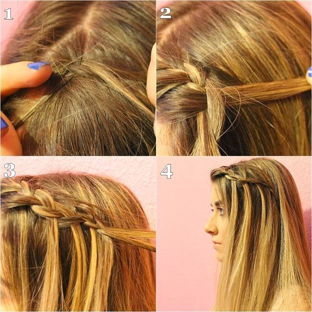 Peinados con trenzas cascadas paso a paso