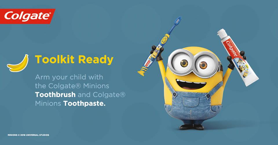 Image result for minions toothbrush and toothpaste