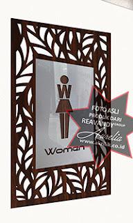 Toilet Sign acrylic