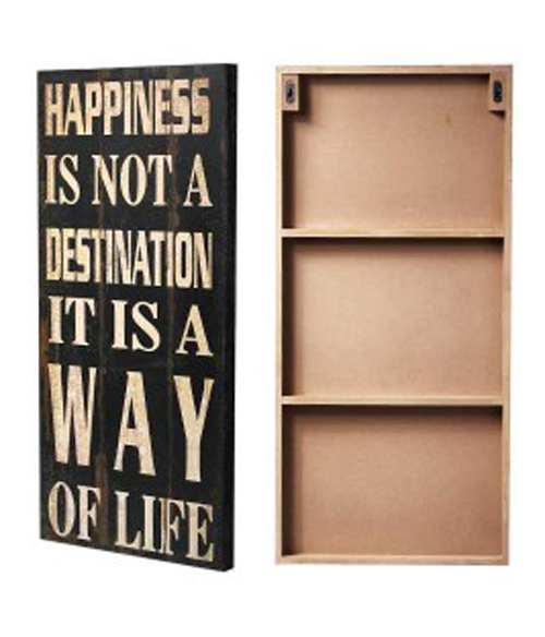 Vintage-Look Wooden Wall Art - Happy - Hook of the Day
