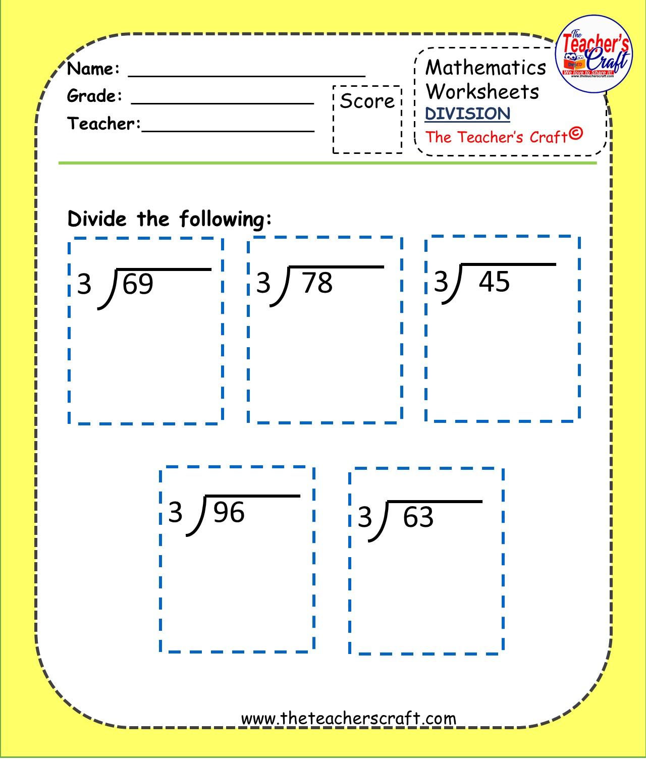 Division Worksheets Level 2
