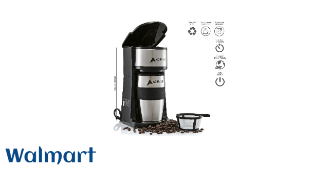 AdirChef AdirChef Grab and Go Personal Coffee Maker with 15 oz. Travel Mug