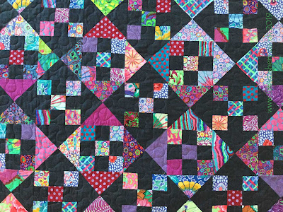 Kaffe Fassett quilt made by Carys