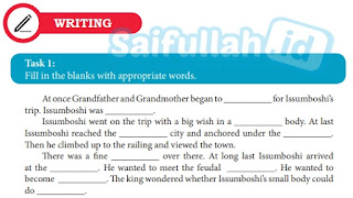 Kunci Jawaban Bahasa Inggris Chapter 12 Writing Task 1 Hal 166