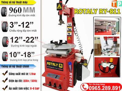 Máy tháo lốp xe máy Rotaly 811